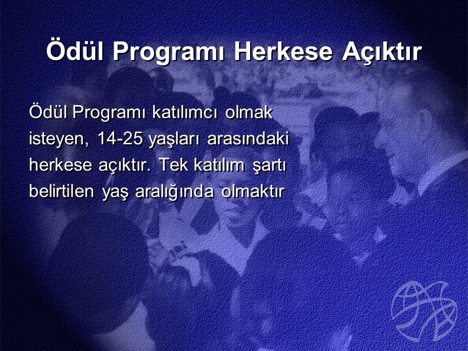 Ödül Programı Herkese Açıktır