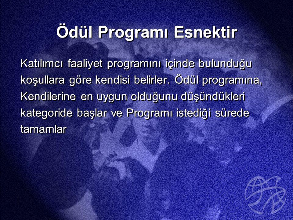 Ödül Programı Esnektir