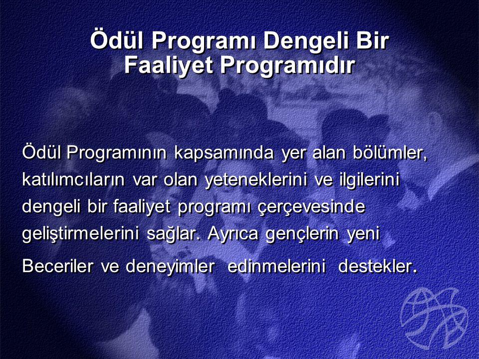 Ödül Programı Dengeli Bir Faaliyet Programıdır