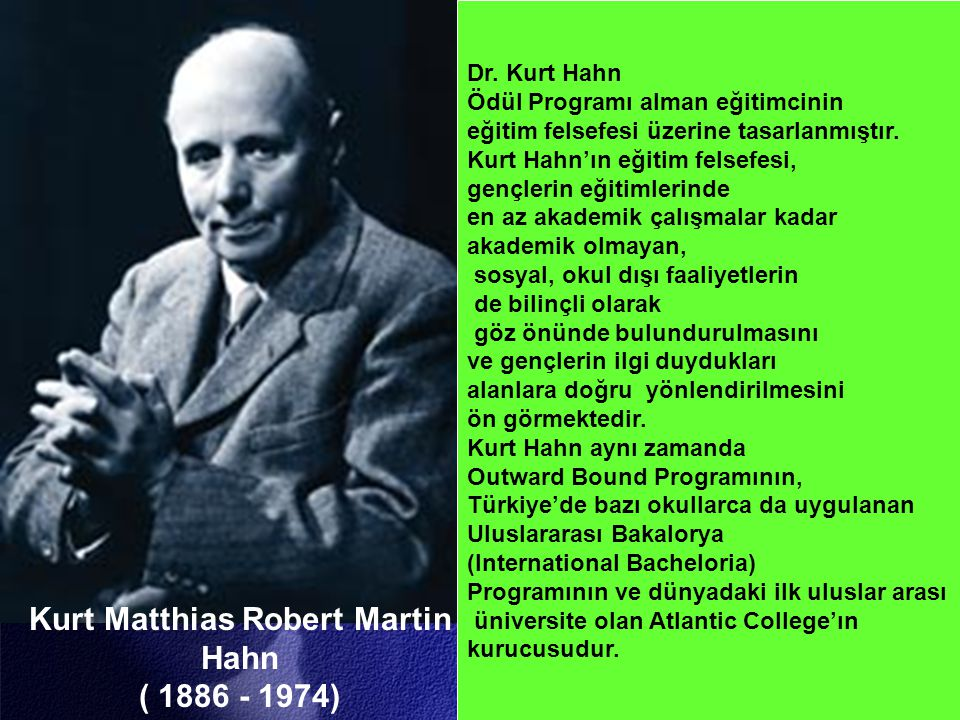 Kurt Matthias Robert Martin Hahn ( 1886 - 1974)