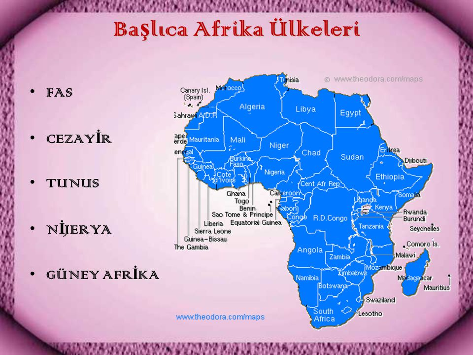 Başlıca Afrika Ülkeleri