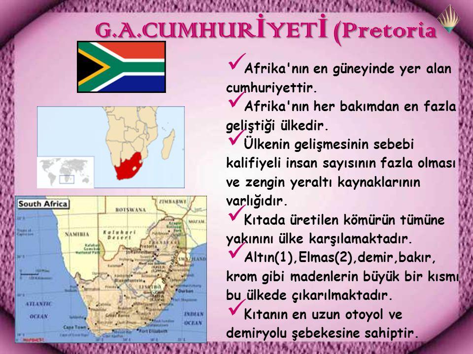 G.A.CUMHURİYETİ (Pretoria