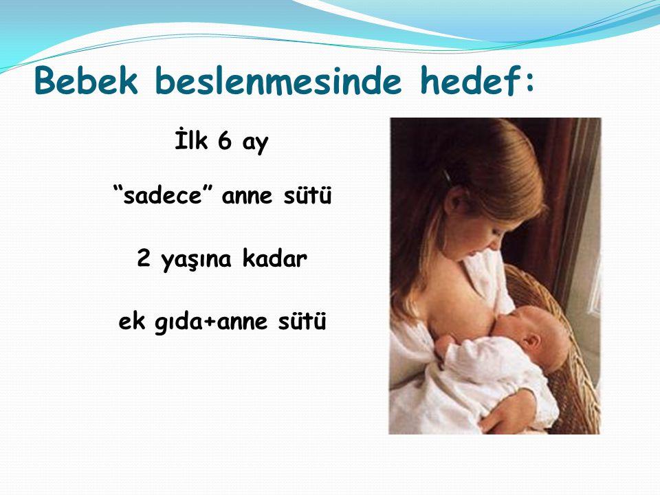 Bebek beslenmesinde hedef: