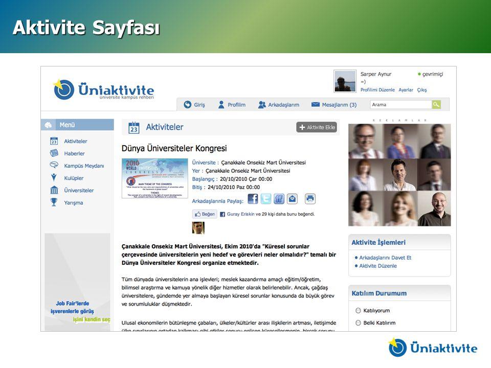 Aktivite Sayfası