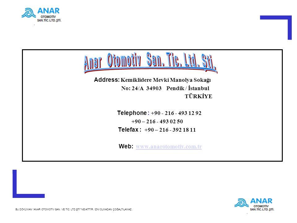 Anar Otomotiv San. Tic. Ltd. Şti.
