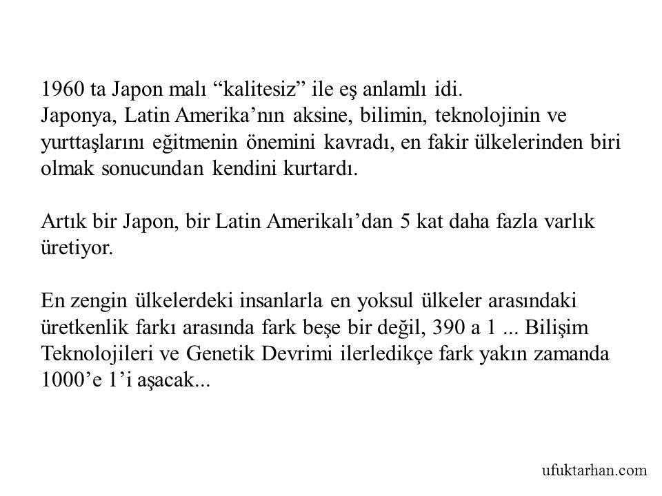 1960 ta Japon malı kalitesiz ile eş anlamlı idi.