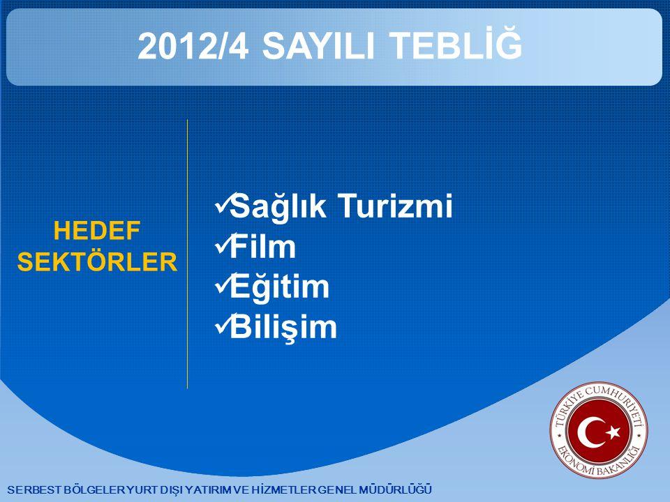 2012/4 SAYILI TEBLİĞ Sağlık Turizmi Film Eğitim Bilişim