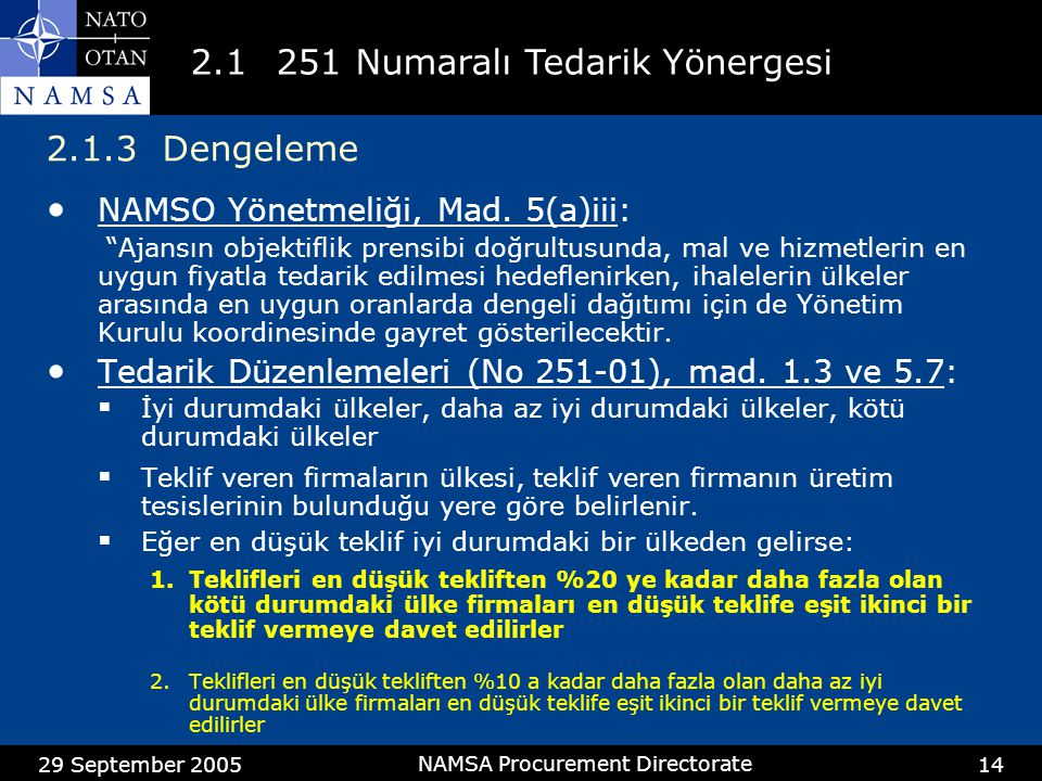 2.1 251 nolu İşlevsel Yönerge (Cont'd)