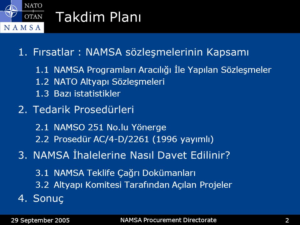 NAMSA Procurement Directorate