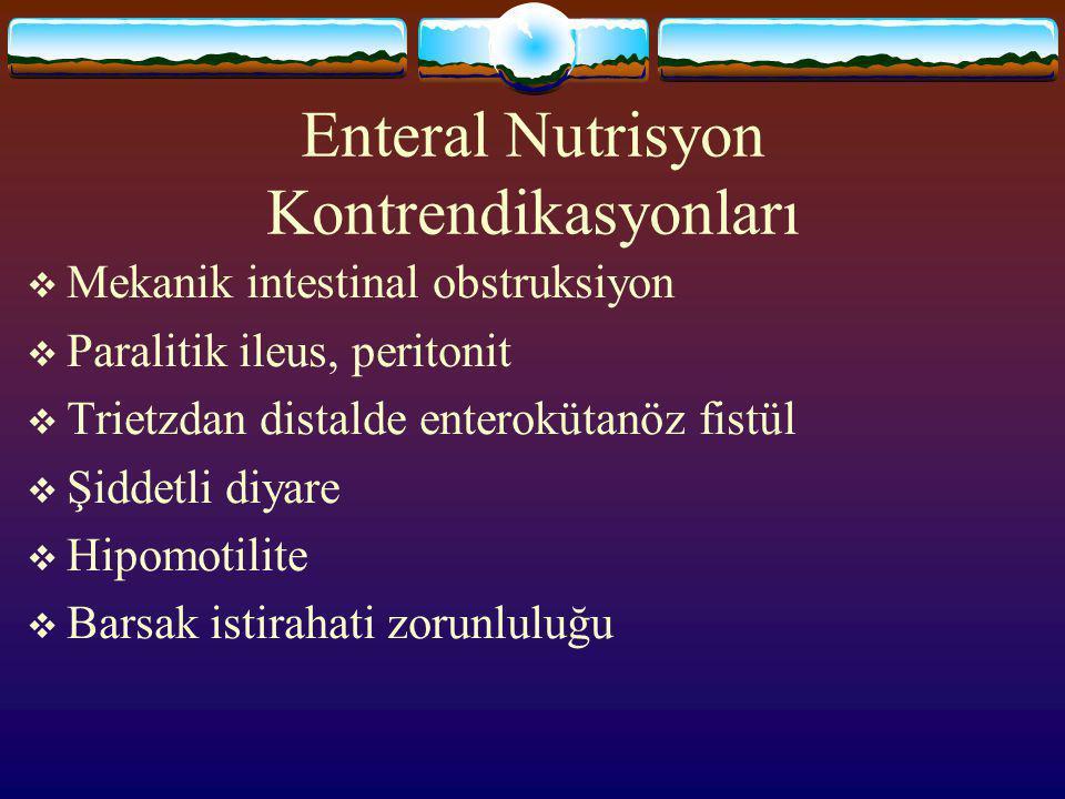 Enteral Nutrisyon Kontrendikasyonları