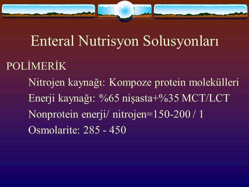Enteral Nutrisyon Solusyonları