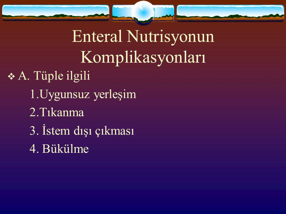 Enteral Nutrisyonun Komplikasyonları