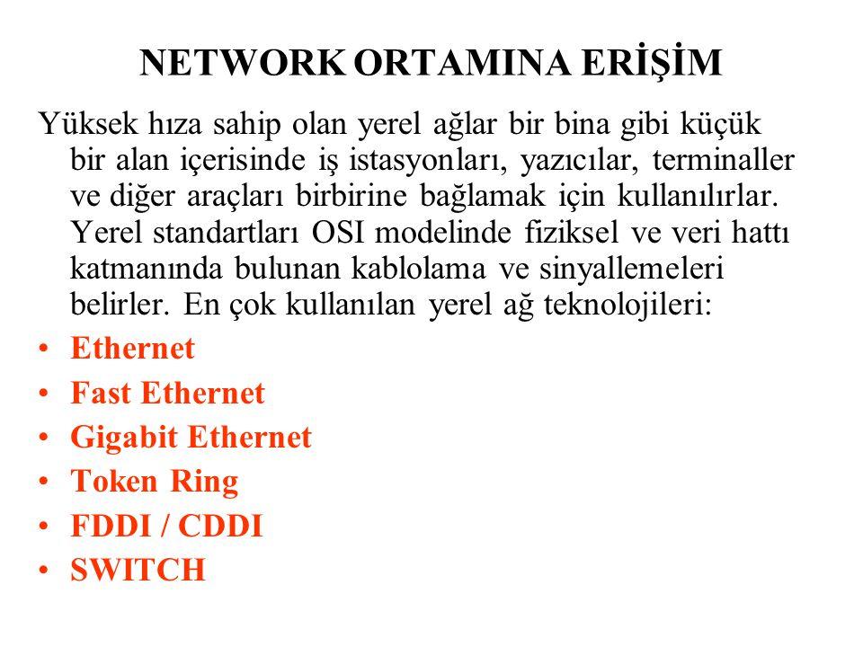 NETWORK ORTAMINA ERİŞİM