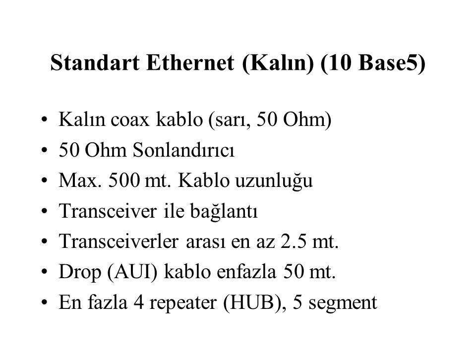 Standart Ethernet (Kalın) (10 Base5)