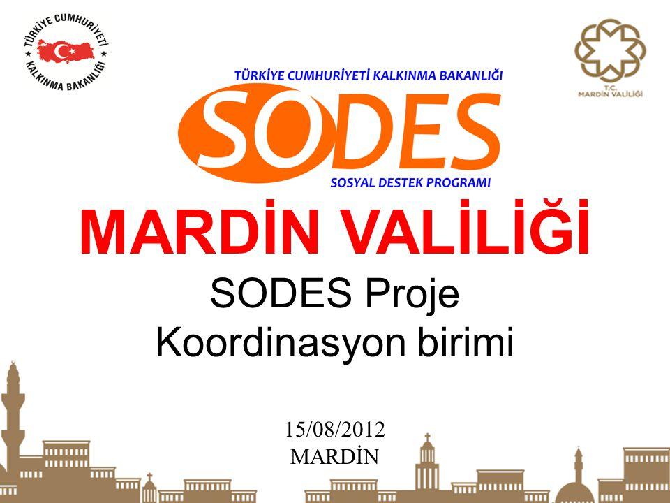 MARDİN VALİLİĞİ SODES Proje Koordinasyon birimi 15/08/2012 MARDİN