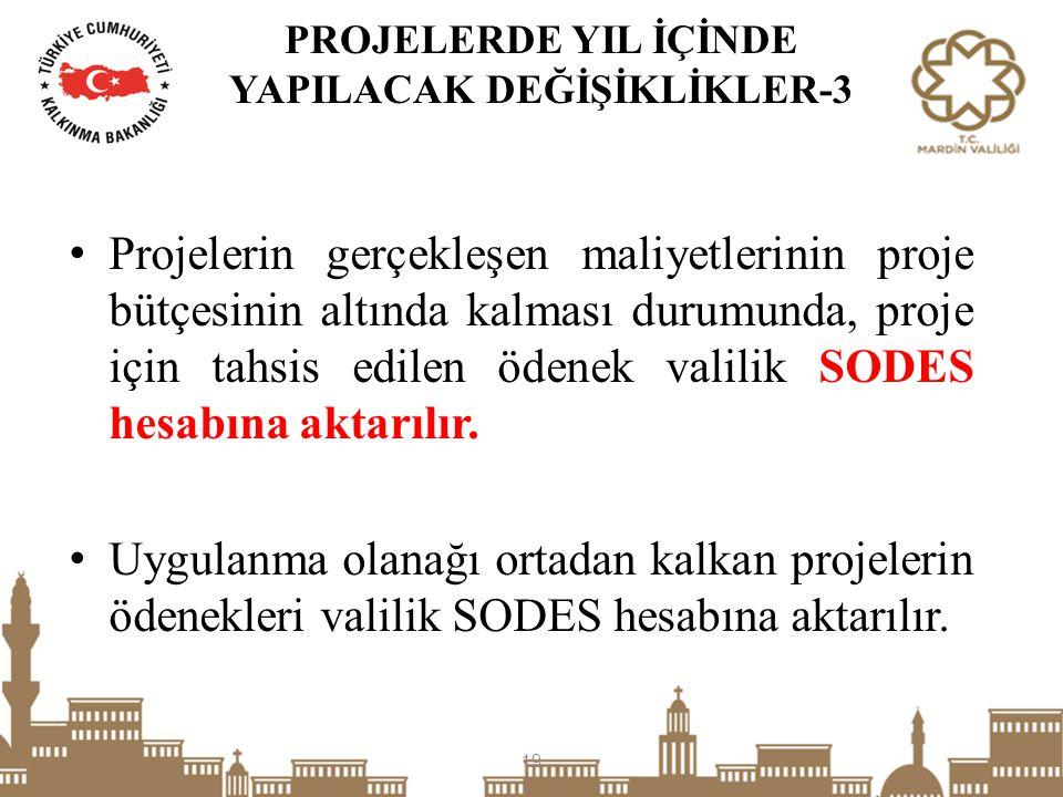PROJELERDE YIL İÇİNDE YAPILACAK DEĞİŞİKLİKLER-3