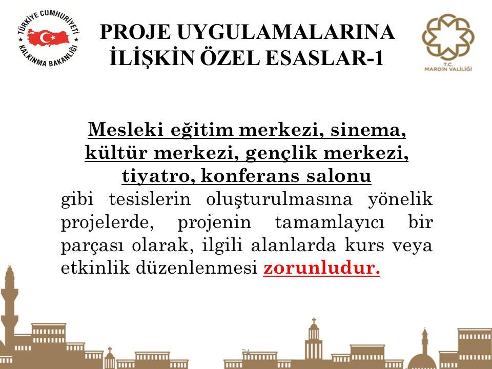 PROJE UYGULAMALARINA İLİŞKİN ÖZEL ESASLAR-1