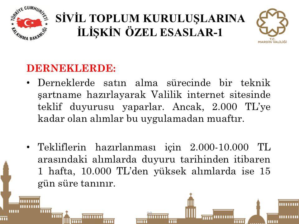 SİVİL TOPLUM KURULUŞLARINA İLİŞKİN ÖZEL ESASLAR-1