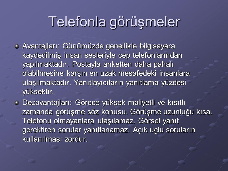 Telefonla görüşmeler