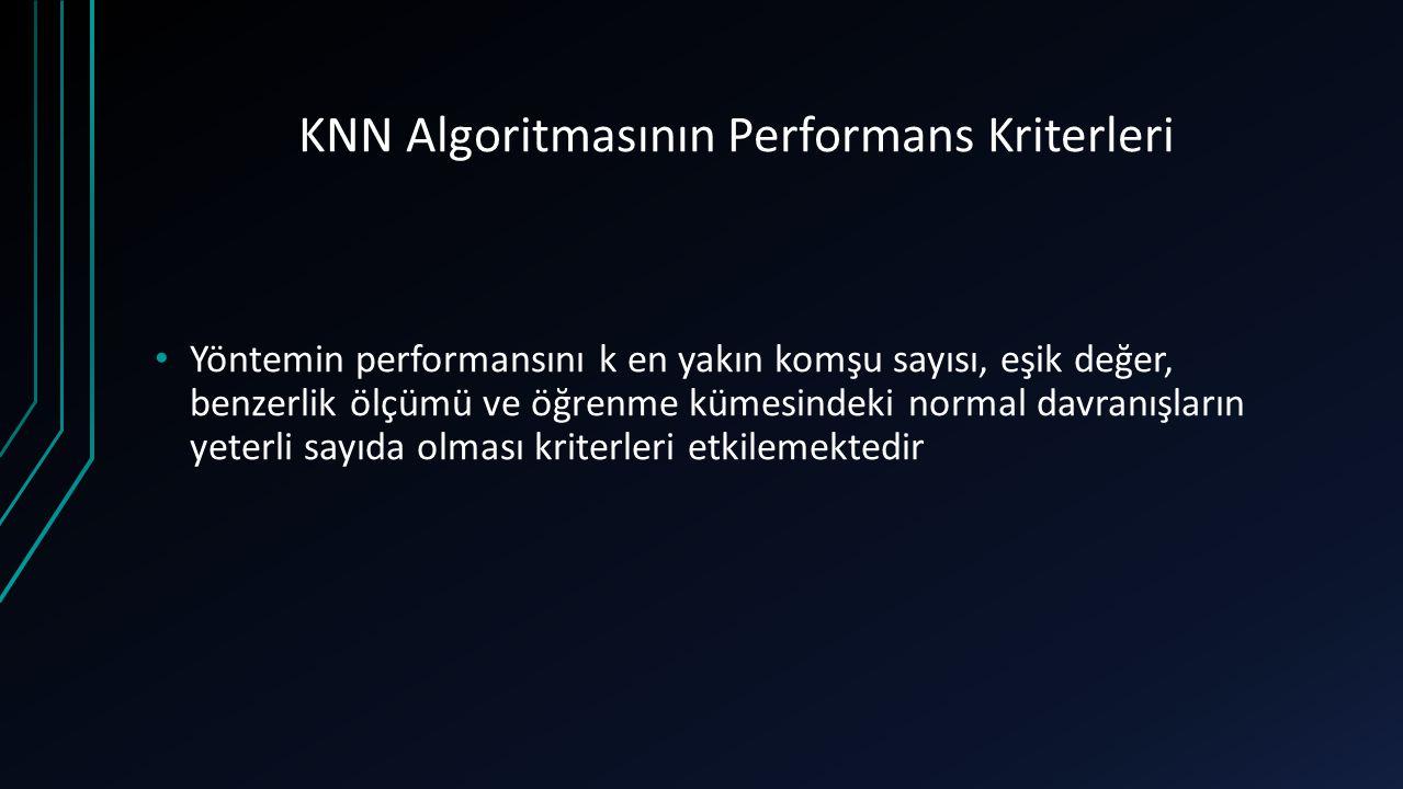 KNN Algoritmasının Performans Kriterleri