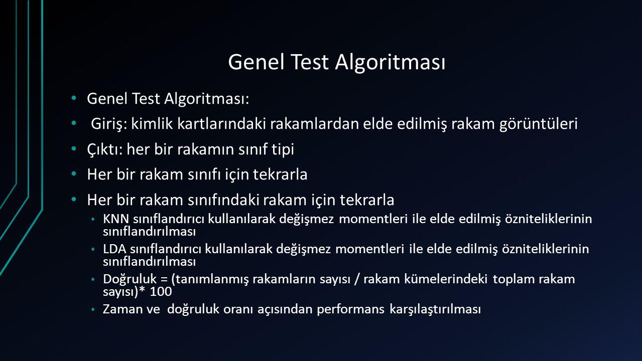 Genel Test Algoritması