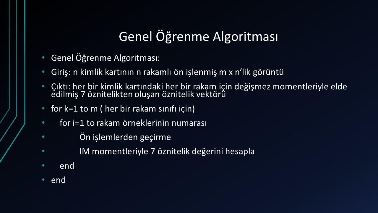 Genel Öğrenme Algoritması