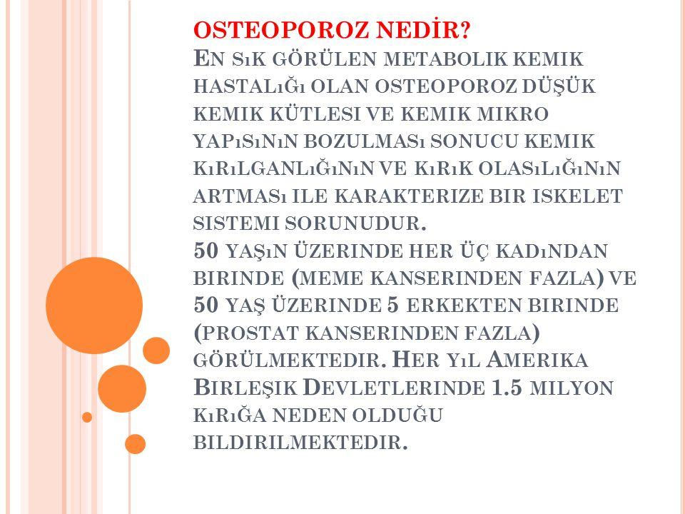 OSTEOPOROZ NEDİR.