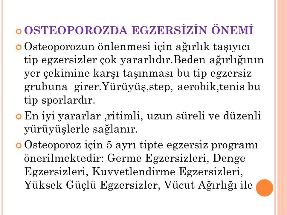 OSTEOPOROZDA EGZERSİZİN ÖNEMİ