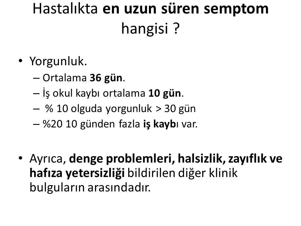 Hastalıkta en uzun süren semptom hangisi
