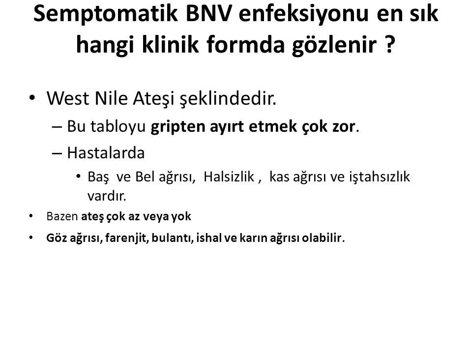 Semptomatik BNV enfeksiyonu en sık hangi klinik formda gözlenir