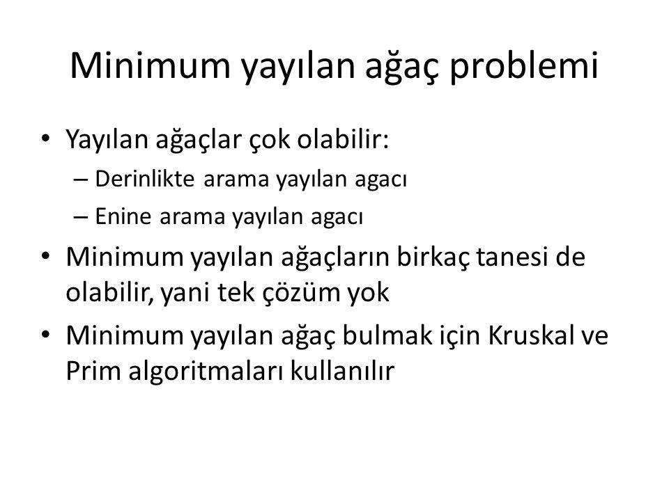 Minimum yayılan ağaç problemi
