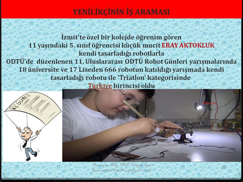 Ramazan TAŞ *2014*Turgut Özal Üniversitesi rtas@turgutozal.edu.tr