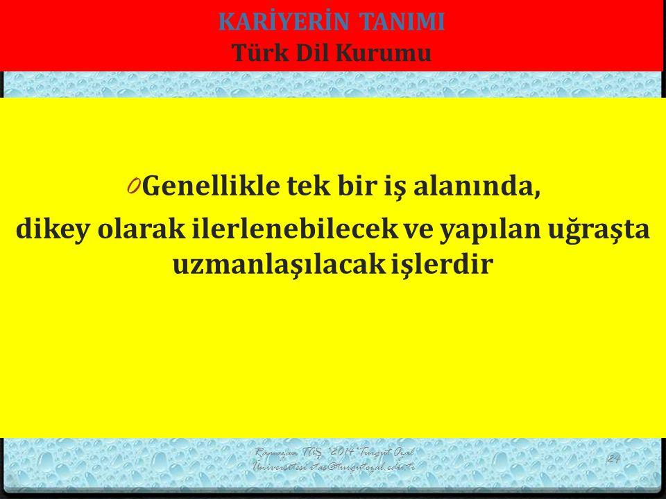 KARİYERİN TANIMI Türk Dil Kurumu