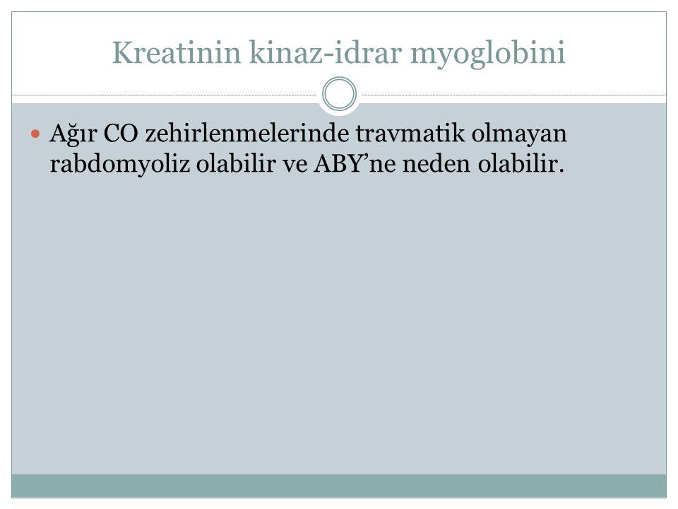 Kreatinin kinaz-idrar myoglobini