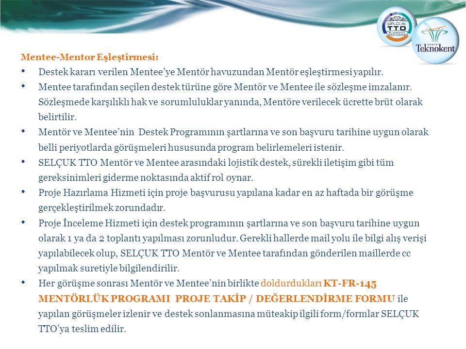 Mentee-Mentor Eşleştirmesi: