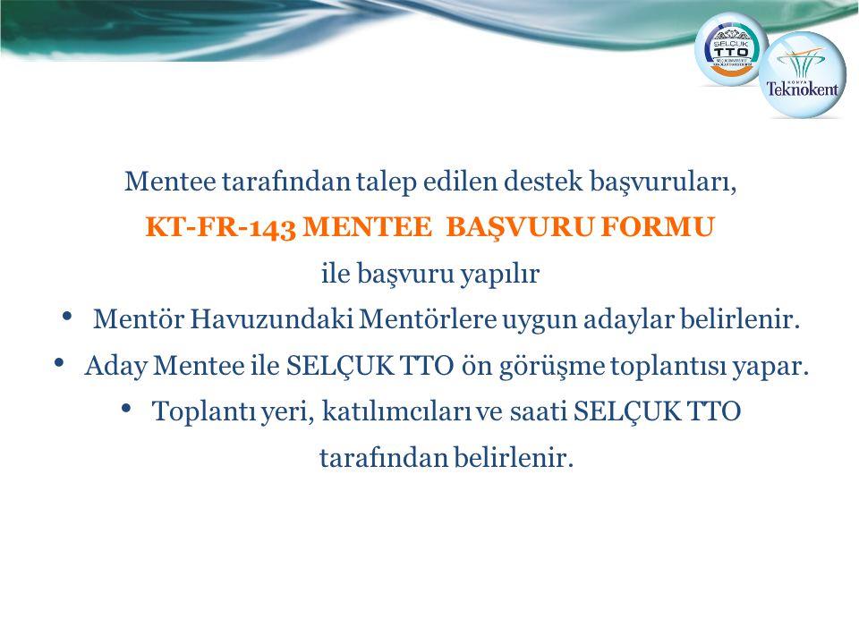 KT-FR-143 MENTEE BAŞVURU FORMU