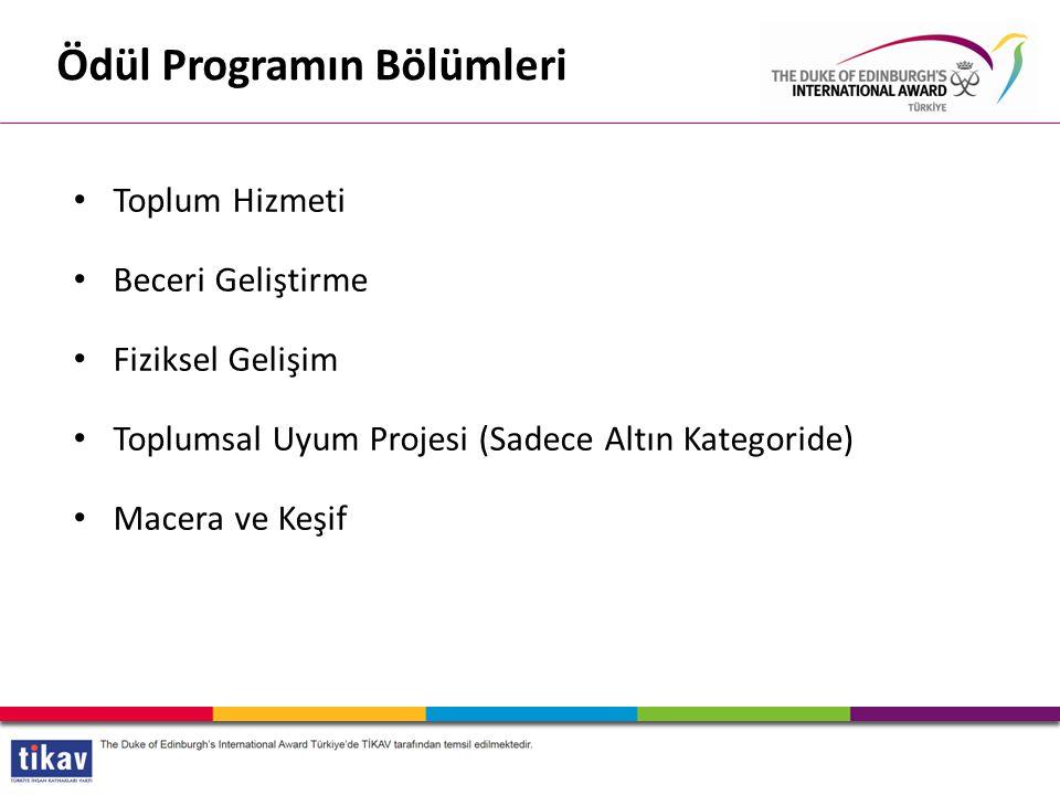 Ödül Programın Bölümleri
