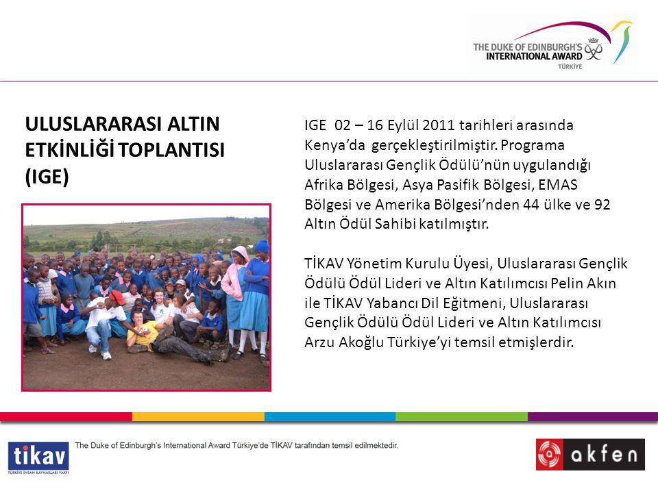 ULUSLARARASI ALTIN ETKİNLİĞİ TOPLANTISI (IGE)