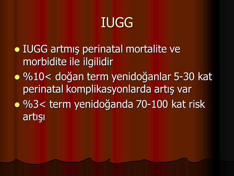 IUGG IUGG artmış perinatal mortalite ve morbidite ile ilgilidir