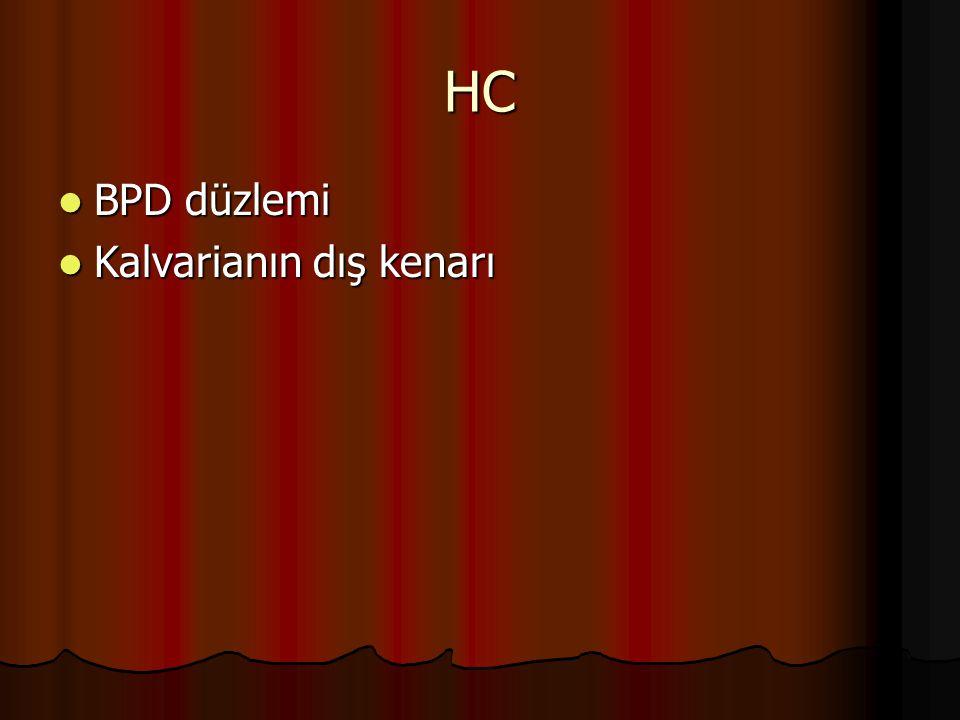 HC BPD düzlemi Kalvarianın dış kenarı