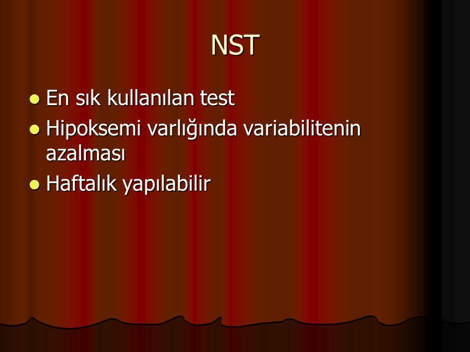 NST En sık kullanılan test