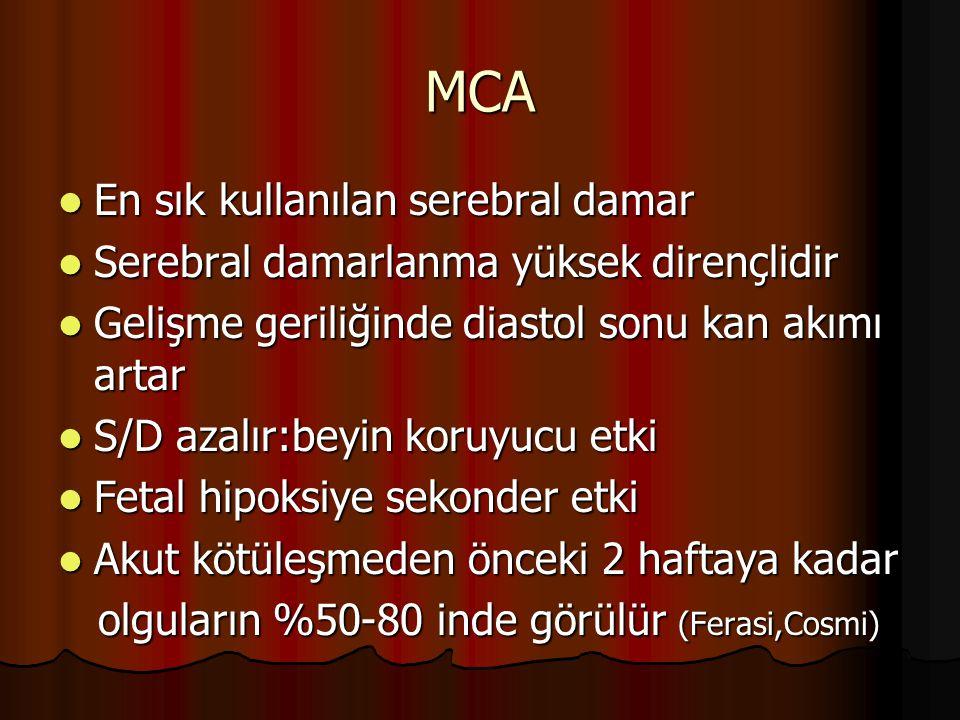 MCA En sık kullanılan serebral damar