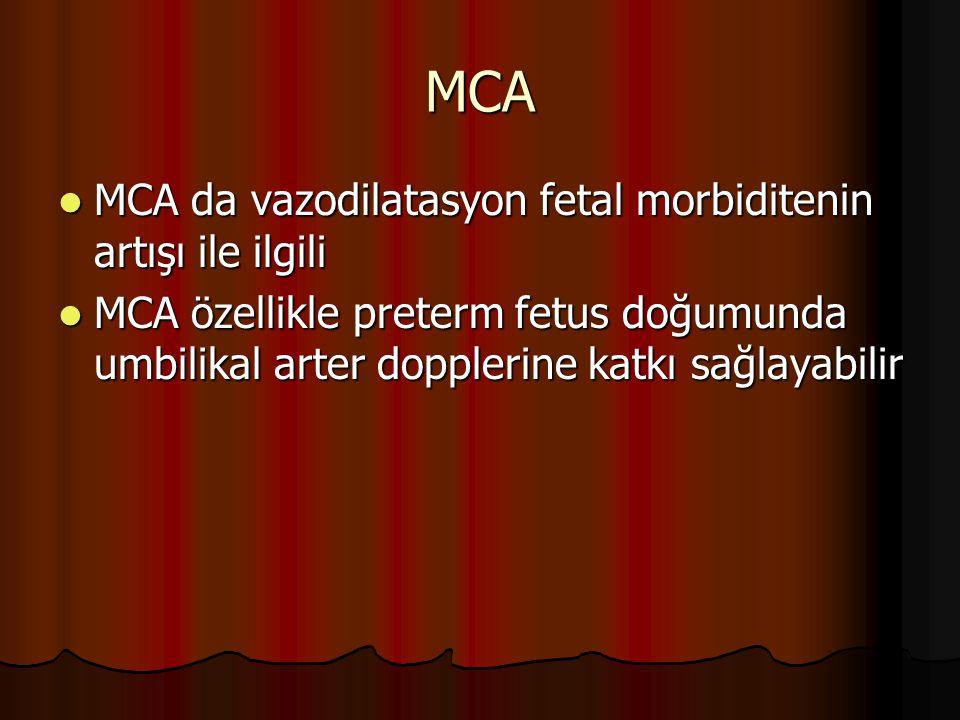 MCA MCA da vazodilatasyon fetal morbiditenin artışı ile ilgili