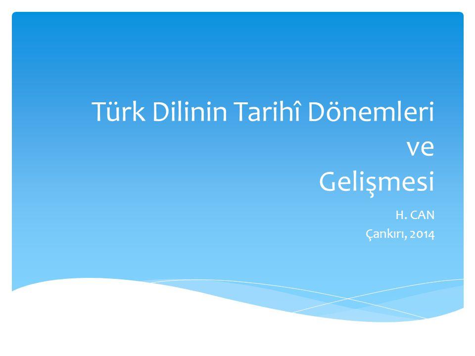 Türk Dilinin Tarihî Dönemleri ve Gelişmesi