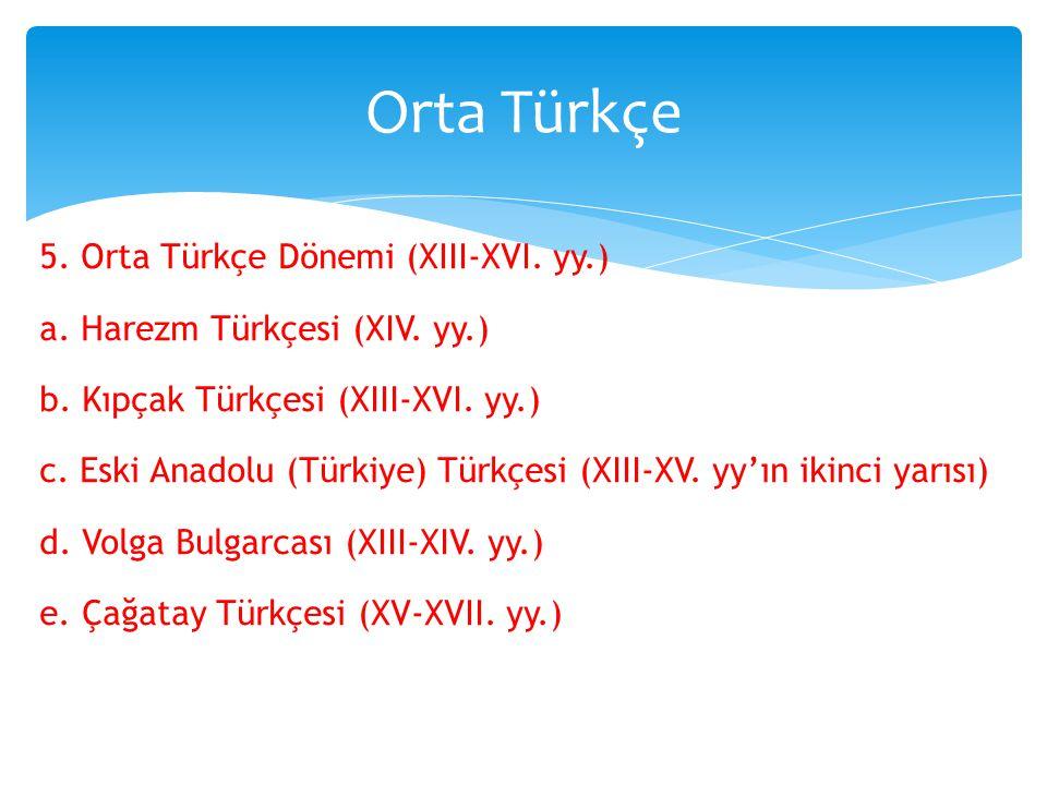 Orta Türkçe