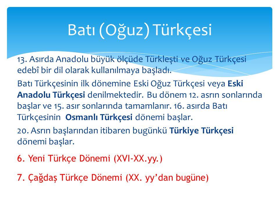 Batı (Oğuz) Türkçesi