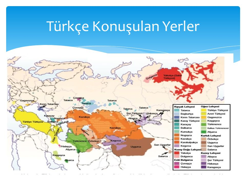 Türkçe Konuşulan Yerler