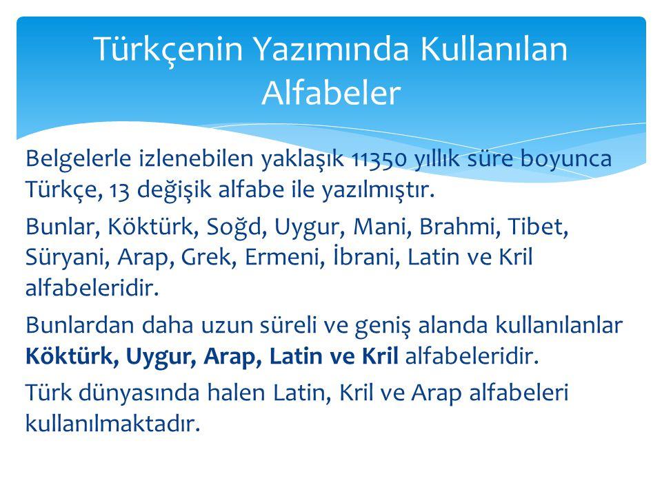 Türkçenin Yazımında Kullanılan Alfabeler