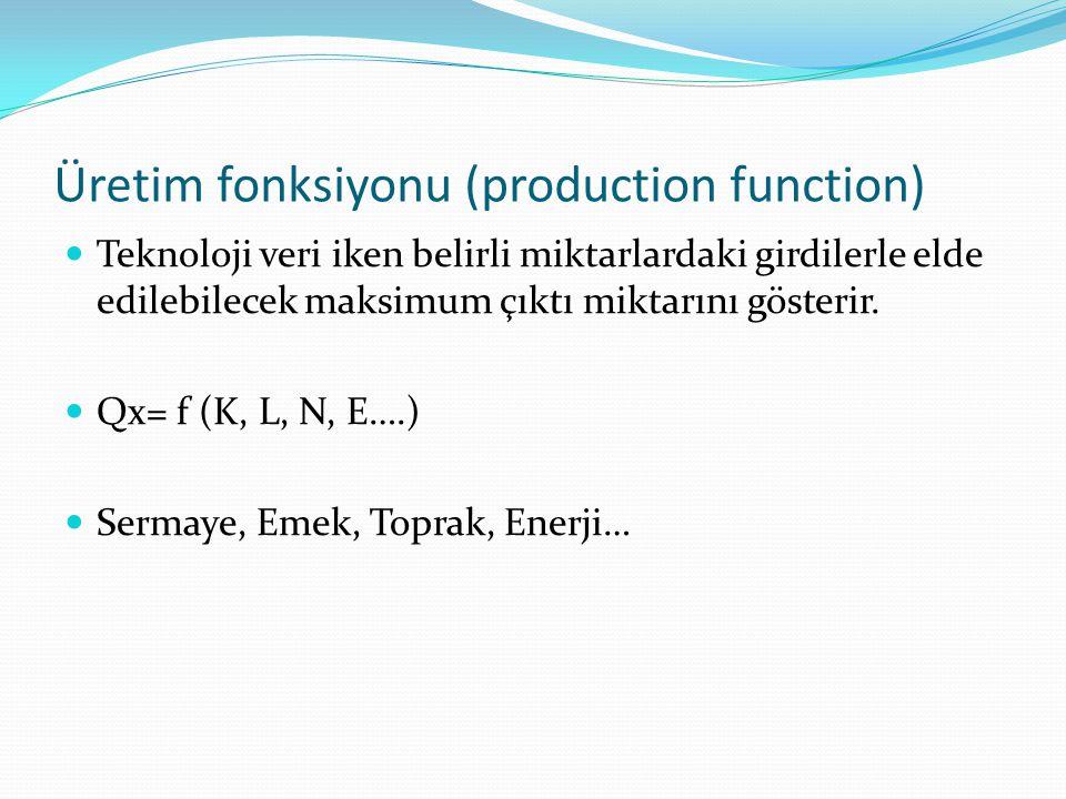 Üretim fonksiyonu (production function)