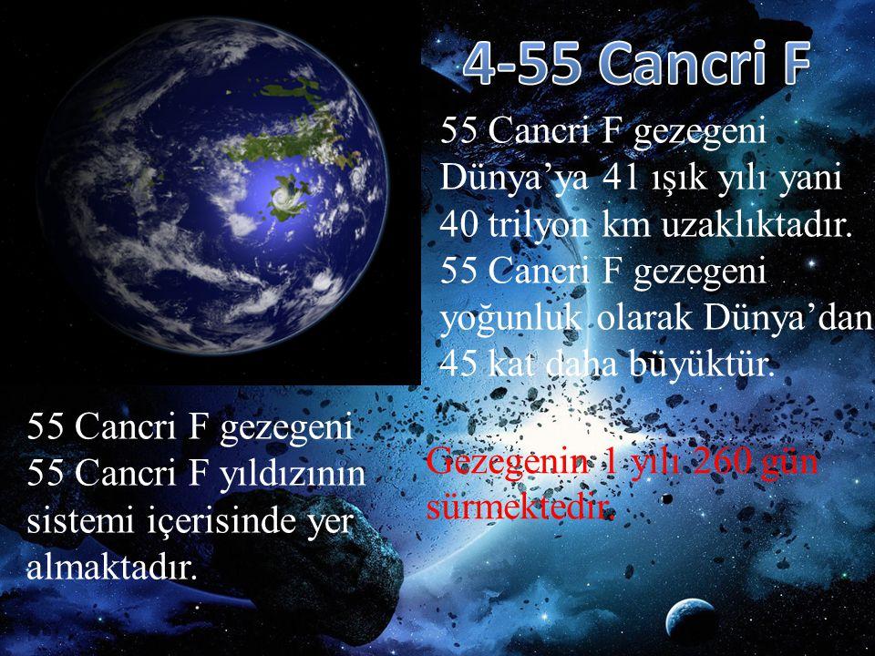 4-55 Cancri F 55 Cancri F gezegeni Dünya'ya 41 ışık yılı yani